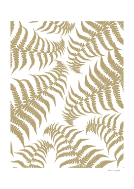Fern Leaves Pattern - Golden Dream #2