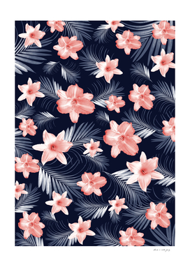 Tropical Flowers Palm Leaves Finesse #6