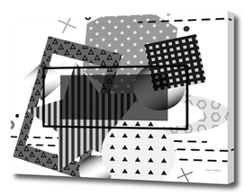 Monochrome modern background with geometrical elements