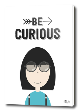 """That's Emma """"Be Curious"""" • Colorful Illustration"""