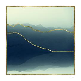 gold framed Alps