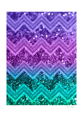 Unicorn Glitter Chevron #3 #shiny #decor #art
