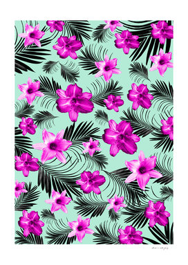 Tropical Flowers Palm Leaves Finesse #9 #tropical #decor