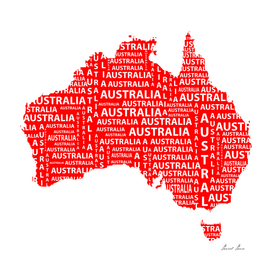 Map of continent Australia - illustration