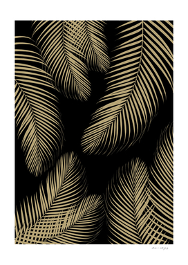 Palm Leaves - Gold Cali Vibes #4 #tropical #decor #art