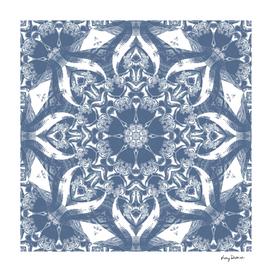 Denim Blue & White Mandala