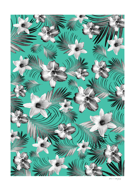 Tropical Flowers Palm Leaves Finesse #5 #tropical #decor