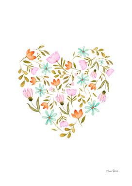Sweet Garden | Flower Watercolor Illustration Pattern