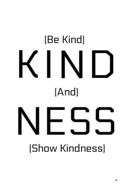 Kindness Black Text