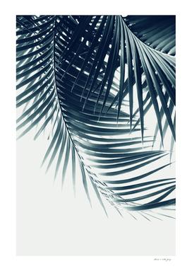 Palm Leaves Green Blue Vibes #2 #tropical #decor #art