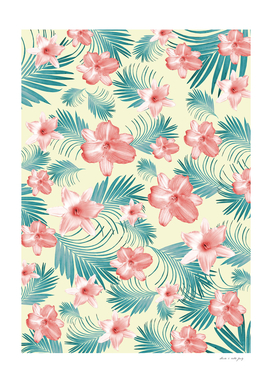 Tropical Flowers Palm Leaves Finesse #7 #tropical #decor