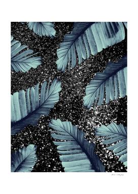 Banana Leaves Glitter Glam #5 #shiny #tropical #decor #art