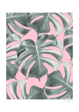 Tropical Monstera Leaves Dream #10 #tropical #decor #art