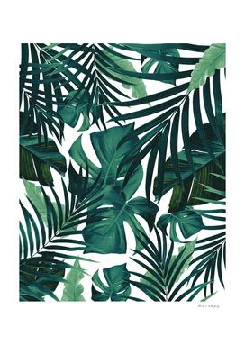 Tropical Jungle Leaves Pattern #1 #tropical #decor #art