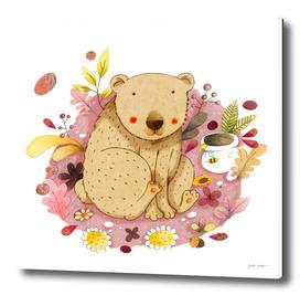 Bear with Honey-Pot