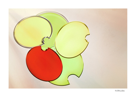 Red, Yellow and Green Circles Abstract