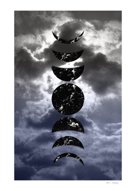 Marbled Moon Phases #2 #decor #art