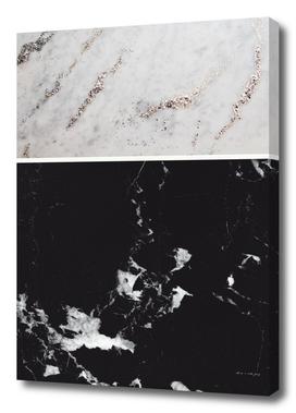 White Glitter Marble & Black Marble #1 #decor #art