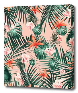 Tropical Flowers & Leaves Paradise #1 #tropical #decor #art