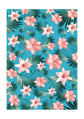 Tropical Flowers Palm Leaves Finesse #8 #tropical #decor