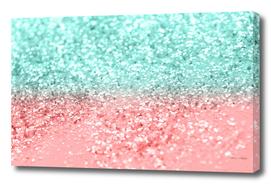Summer Vibes Glitter #1 #coral #mint #shiny #decor #art