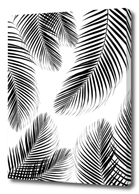 Palm Leaves - Black & White Cali Vibes #2 #tropical #decor