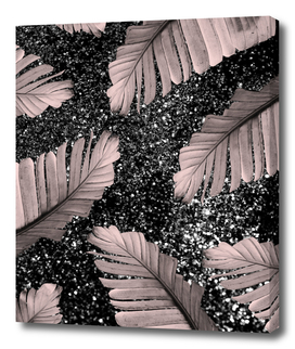 Banana Leaves Glitter Glam #4 #shiny #tropical #decor #art