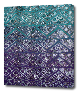 Purple Aqua MERMAID Glitter Scales Dream #2 #shiny #decor
