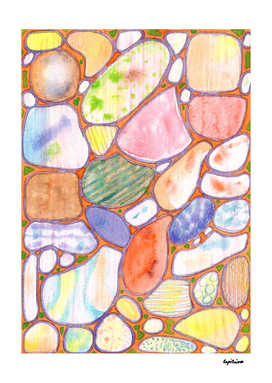 Friendly Colorful Pebbles Pattern