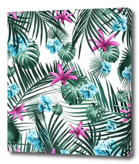Tropical Flowers & Leaves Paradise #3 #tropical #decor #art