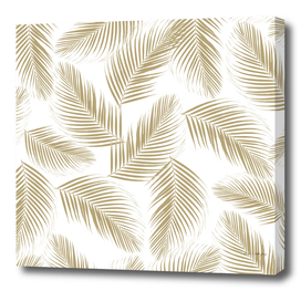 Palm Leaves Pattern - Gold Cali Vibes #2 #tropical #decor