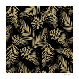 Palm Leaves Pattern - Gold Cali Vibes #1 #tropical #decor