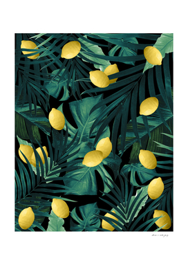 Tropical Lemon Twist Jungle Night #1 #tropical #decor #art