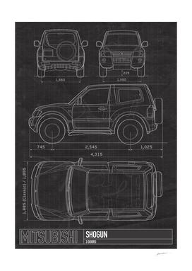 Mitsubishi Blueprints car