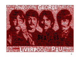 The Beatles Typography Art Work