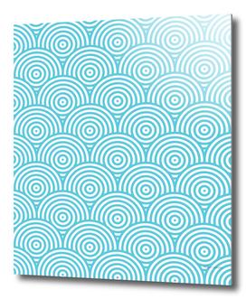 Geometric Scales Pattern - Light Blue & White #984