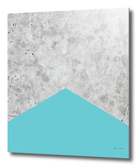 Geometric Concrete Arrow Design - Light Blue #206