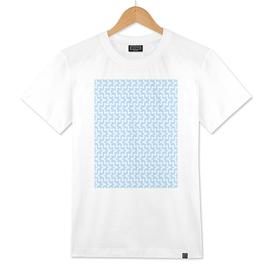 Geometric Sea Urchin Pattern - Light Blue & White #512