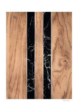 Wood Grain Stripes - Black Granite #175