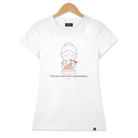 Little Buddha blowing kisses