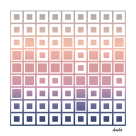 Mosaic Cubes on pastel color