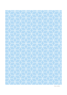 Geometric Hive Mind Pattern - Light Blue #280