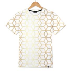 Geometric Hive Mind Pattern - Gold #298