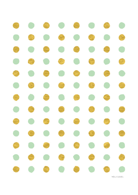 Dalmatian - Mint Green & Gold Foil #409