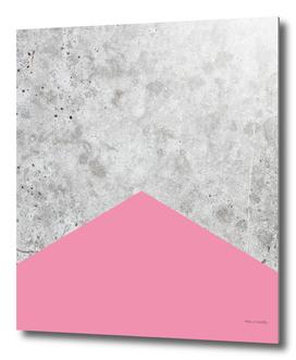 Geometric Concrete Arrow Design - Pink #329