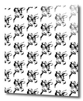 Follow the Herd Pattern - Black #819