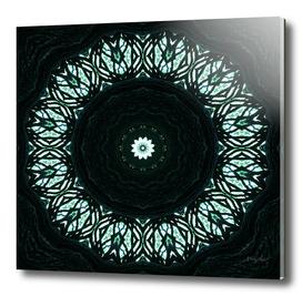 Dark wooden flower mandala