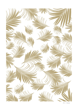 Palm Leaves Pattern - Gold Cali Vibes #3 #tropical #decor