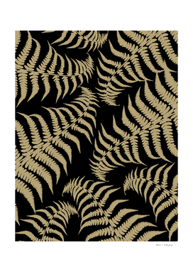Fern Leaves Pattern - Golden Dream #1 #ornamental #decor