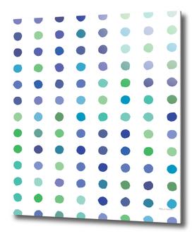 Circular Dalmatian Spots - Ocean #472